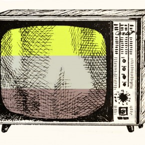 Ernesto Oroza - Speculative color variations in a B&W TV (Caribe)