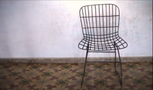 78 versions of Harry Bertoia's chair Model No. 420C, found in Aguacate, Cuba. Oct/2006.